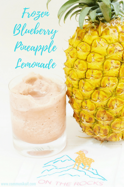 Frozen Blueberry Pineapple Lemonade