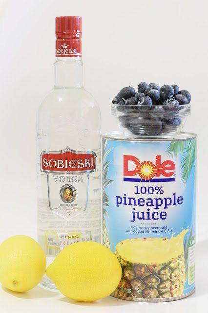 Frozen Blueberry Pineapple Lemonade