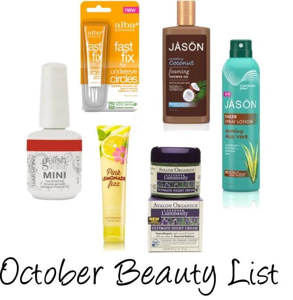 October Beauty List